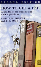 How to Get a PhD: A Handbook for Students and Their Supervisors,GOOD Book