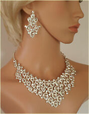 Spectacular, Sparkling, Diamante Necklace & Earrings Set  (S1222)
