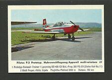 Pilatus P3 Prototype Vintage 1960 Airplane Plane Aviation Card #69