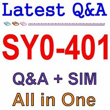 CompTIA Security+ SY0-401 Exam QA PDF+SIM