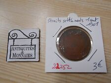 STRAITS SETTLEMENTS 1 CENT 1901 - OLD BRITISH COIN - REF22252