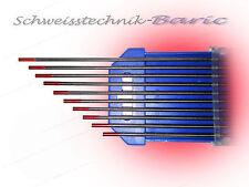 10 x Wolframelektrode ROT WT20 1,0 x 175 zum TIG/WIG WT-20 Wolframelektroden