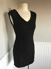 Black Dress Sequins Dress Small Holiday Party Forever 21 Going Out Sleeveless