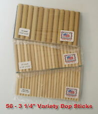 56 Dop Sticks Sm.Med.Lg. cabs lapidary tool Made in America use with Dop Wax