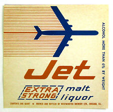 Westminster Brewery JET - EXTRA STRONG MALT LIQUOR beer label IL 32oz Over 6%ABW