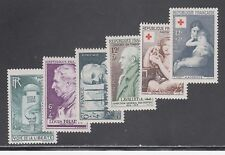 FRANCE STAMPS #B220//B292 --  (5) SEMI-POSTAL SETS -- 1947 -- UNUSED