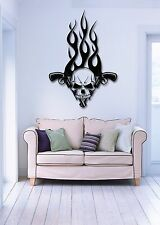 Wall Stickers Vinyl Decal Skull And Guns Fire Modern Tribal Decor  (z1717)