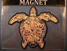 "NEW! GRAPHIC SEA TURTLE MULTI-COLOR MAGNETIC SIGN DECAL 8"" X 6 1/2"""