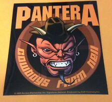 "Pantera Cowboys From Hell Sticker Brand New 4""x4.5"""