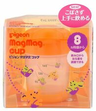 New Pigeon Mag Mag cup Baby Cup 8 months ~ 200ml Orange Japan Import  F/S