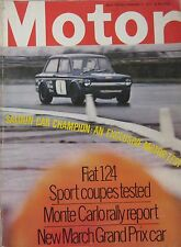 Motor magazine 6/2/1971 featuring Fiat 124 Sport road test, March 711