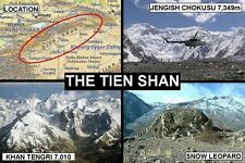 SOUVENIR FRIDGE MAGNET of THE TIEN SHAN MOUNTAINS & KYRGYZSTAN & CHINA