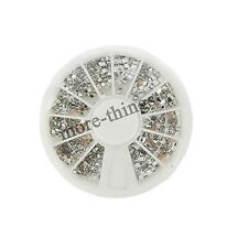 12 Nail style Clear Color Wheel Art Strass Glitters