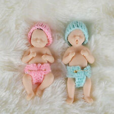 1Pair Twins Doll Baby Reborn Wedding Gift Pocket Mini Solid Platinum Resin Cute