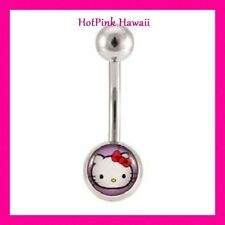 Pink Hello Kitty Belly Button Navel rings 316L Stainless Steel USA MADE