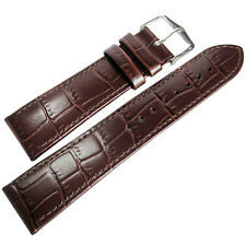 20mm Hirsch Louisiana Brown Alligator-Grn Leather Watch Band Strap Louisianalook
