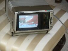 VINTAGE TOSHIBA 4 Inch TV Works great from 1984. Very Hard to Find! CA045