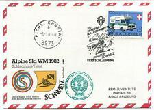 1982 Sonder Ballonpost n. 25 Pro Juventute Schladming Pichl. Ennstal Ski WM 82
