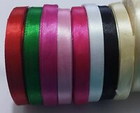 16 meters Full Reel Premium DOUBLE FACED SIDED SATIN RIBBON Many Colours 10mm