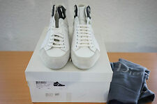 Dior Homme B45  Hedi Slimane Era White Leather Hi Top Sneakers shoes 41 US 8