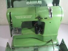 Vintage Swiss Elna Supermatic Sewing Machine w/ Original Case PARTS/REPAIR