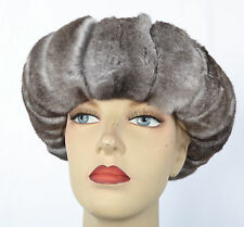 G521 Chinchilla Stirnband für Pelzjacke Pelz Women Fur Headband cincillà fascia