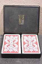 1935 KEM Playing Cards Boxed Set -2 Decks -  cool vintage red white pattern