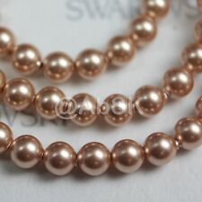 10 pcs Swarovski Element 5810 10mm Round Ball Crystal Pearl Beads - Rose Gold