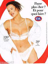 PUBLICITE ADVERTISING 055  1996  C & A  soutien gorge sous vetements slips