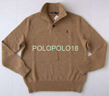 New $115 Polo Ralph Lauren Pony Half Button Sweater S M L XL 2XL