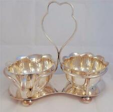 Antique Silver Plated Milk Jug & Sugar Basin & Stand by Martin Hall & Co ca 1870