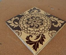 Mintons China works Stoke On Trent Chrysanthemum  Beige Brown tile 2