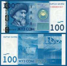 KIRGISIEN  / KYRGYZSTAN  100 Som  2009  UNC  P. 26