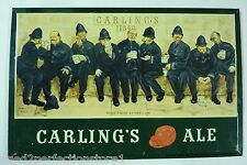 Orig 1950s Carling's 'Red Cap' Ale Sign bar liquor store advertising Cleveland O