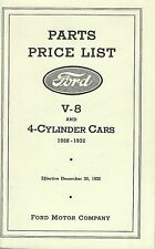 1928-1932 Ford Parts List for V-8 & 4 Cylinder Cars