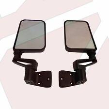 Black Door Side Mirror Kit Both Sides fits Jeep Wrangler YJ TJ 1987-2006