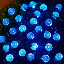 New 30LED Blue 6M Bubble Ball Solar Fairy String Lights Garden Party Outdoor