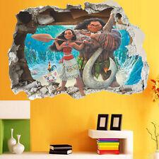 3D Moana Disney Princess Vinyl Window Decals Wall Stickers Home Decor Art Murals