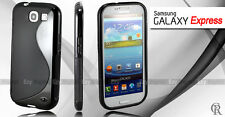 NEW S CURVE GEL CASE COVER FOR SAMSUNG Galaxy Express i8730 + Screen Protector