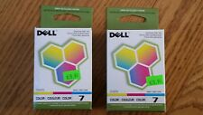 Lot of 2 Genuine Dell Series 7 Color Ink Cartridges DH829 NIB Factory Sealed