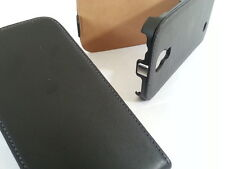 SAMSUNG GALAXY S4 MINI I9190 GENUINE LEATHER FLIP PHONE Custodia Nera Cover Skin