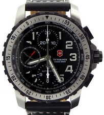 Victorinox Swiss Army 241195 Alpnach Swiss Automatic Chrono Black Leather Watch