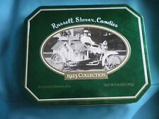Vintage Russell Stover Candies Tin - Bungalow  Motorcycle Collectors Tin