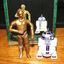1997 HALLMARK MINIATURE C-3PO AND R2-D2  STAR WARS  SET OF 2  MINT IN BOX  L@@K