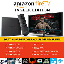 JAILBROKEN AMAZON FIRE TV BOX 4K ALEXA MOVIES SHOWS LIVE TV SPORTS TVGEEK 16.1