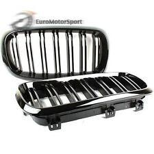 @ Shiny Gloss Black M Look Double Rib Bumper Kidney Grille For BMW F15 X5 F16 X6