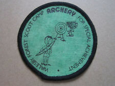Walesby Forest Scout Camp Archery Cloth Patch Badge Boy Scouts Scouting