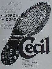 PUBLICITE CHAUSSURES CECIL RICHELIEU GRO CORD SIGNE BORNIER DE 1928 FRENCH AD