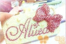 3D Individuation name Handmade bling crystal For iPhone 4 4S case cover Skin W32