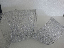 Christmas Silver Sparkle Lace Ribbon Cakes, Decoration wreath, Bow 2.5ins wide